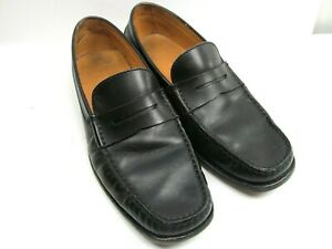 Tods Mens Black Leather Pinch Moc Toe Penny Loafers Size US 6.5 Made In Italy