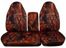AFCC Ford f150 40-60 seat highback camo tree car seat covers+console cover,COOL