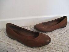 Frye Ballet Shoes Agnus Cognac Brown Size 7 NEW
