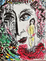 CHAGALL -APPARITION AT THE CIRCUS- ORIGINAL LITHOGRAPH - 1963 - FREE SHIP IN US!