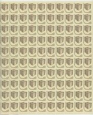 sheet of 100 TO CAST A FREE BALLOT / ROOT OF DEMOCRACY stamps - Scott #1584 3c