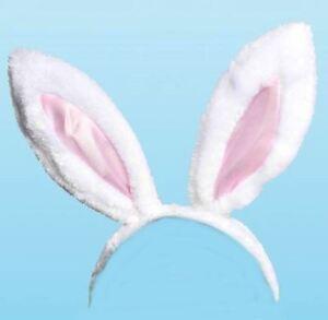 Easter White Bunny Ears Rabbit Headband Party Fancy Dress Alice Gift Costume Hen