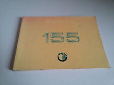 ALFA ROMEO 155 Libretto Manuale USO MANUTENZIONE del 1991 Italiano OWNER MANUAL