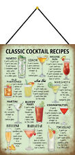 Classic cocktail recipes bar SCUDO CON CORDINO Tin Sign 20 x 30 cm fa0220-k