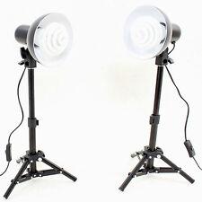 Set de Studio DynaSun Kit 2x PS01 350W con Soporte de luz, Reflector y Lámpara