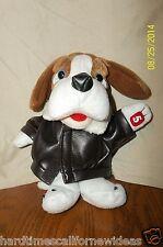 NEWS CHANNEL 5 NEWS HOUND DOG PLUSH MASCOT ADVERTISEMENT BOMBER JACKET