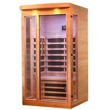 Indoor Sauna Infrared Canadian Hemlock Wood Sauna 1 Person Low EMF Heater Panel