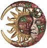 Wall Celestial Decor Sun Moon Garden Art Sculpture Home Hanging Patio Accent