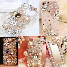 Bling Crystal Rhinestone Diamond Clear Soft and Hard Case Cover For Cell Phone