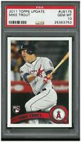 2011 Topps Update #US175 Mike Trout RC Rookie PSA 10 GEM MINT 25353752 CENTERED