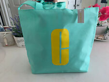 2019 Clinique Limited Edition Turquoise Tote 15x12x3.5 NEW Reversible