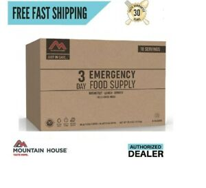 New 2020 Clean Label Mountain House Just in Case 3 Day Emergency Food Supply Kit