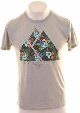 HOLLISTER Mens Graphic T-Shirt Top Medium Grey  FA06