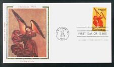 1551 Christmas Angel  Colorano Silk Cachet USA 1974 FDC LOT A53