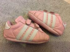 Baby Girls Pink Adidas Superstar Crib Pram Shoes Trainers 2