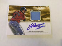 Jonathan Singleton 2013 Bowman Inception Autograph Game Used Jersey