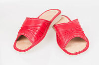 Women`s/Ladies Leather Slippers Natural Leather size:UK 3,4,5,6,7,8