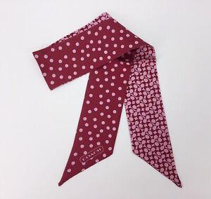 COACH Signature C Polka Dot PONYTAIL Silk SCARF Bag Accessories GIFT Present