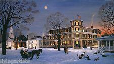 New England HOTEL BARRE 11x17 Holiday Giclee Art Print
