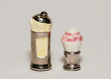 Ice Cream Soda & Straws Miniature Salt & Pepper Shakers