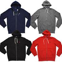 Men Polo Ralph Lauren Full Zip Cotton-Blend-Fleece Hoodie Sweatshirt Jacket