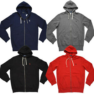Men Polo Ralph Lauren Full Zip Cotton-Blend-Fleece Hoodie Sweatshirt Jacket