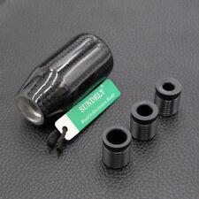 Black Carbon Fiber Universal Manual Transmission Gear Knob Ball Shifter UK