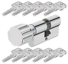 ABUS EC550 Schließzylinder mit Knauf und 10 Wendeschlüssel verschiedenschließend