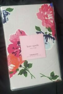 Kate Spade Tablecloth 60x120 Oblong, Spring Blooms on Gray FREE SHIPPING