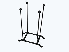 wrought iron black heavy duty 2 pair wellington boot holder