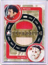 2006 IN THE GAME PHIL ESPOSITO & TONY ESPOSITO GOLD VERSION 1 of 10