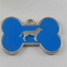 5pcs Vintage Silver Alloy Enamel Bone$Dog Pendants Charms Jewelry Crafts 50858