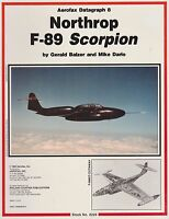 Datagraph Eight : Northrop F-89 by Mike Dario and Gerry Balzer (1965, Paperback)