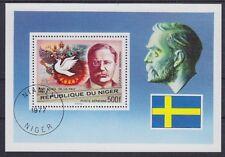 Niger Theodor Roosevelt Nobelpreis Block 1977, gestempelt, used