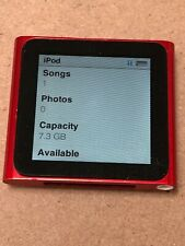 Apple iPod Nano 8GB A1366 6th Generation Product Red