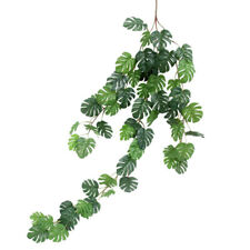 1X(Strip Artificial Turtle Leaf Palm Bush Tree Plants Home Wedding Decoratio U4)