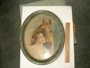 Vintage Horse and Lady 1905 , Chas,Ehlen beer tray