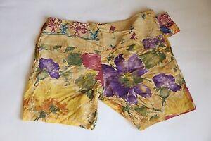 NWT Jams World M928-3A Antiqua Viola brown floral shorts