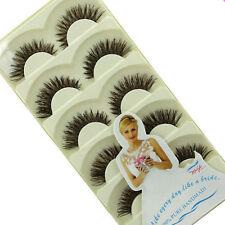 5 Pairs Handmade Long False Eyelashes Natural Fake Thick Big Eye Lashes Beauty