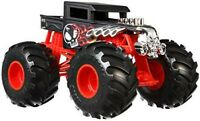 HOT WHEELS MONSTER TRUCKS BLACK & RED BONE SHAKER VEHICLE - NEW BOXED