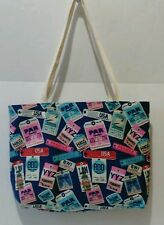 TRAVEL TAGS THEME TOTE BAG