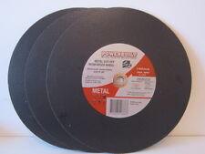 METAL CUTTING DISC. POWERBUILT.  3 x 355MM  x 4.1mm x 20mmm DISCS