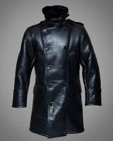 Winter Warm WWII RAF Shearling Bomber Jacket Black Fur Real Leather Coat Men's
