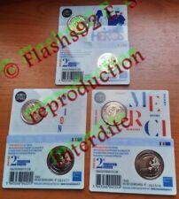 2 euros commémorative France 2020 Recherche Medicale les 3 coincards BU Disponib