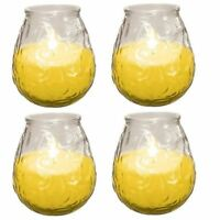 4 x Prices Outdoor Citronella Fragranced Garden Candle Glass Jar