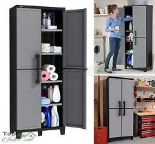 Garage Storage Cabinet Kitchen Garden Shed Wall Shelves Tool Organizer Cupboard