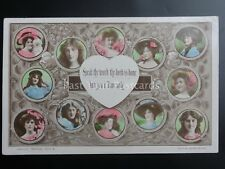 ROMANCE & LOVE Depicts Hearts & Ladies Old RP by Philco MISSING WORD SERIES