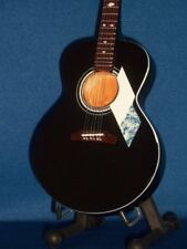 Mini Acoustic Black Guitar NEIL DIAMOND GIFT Memorabilia FREE STAND Present