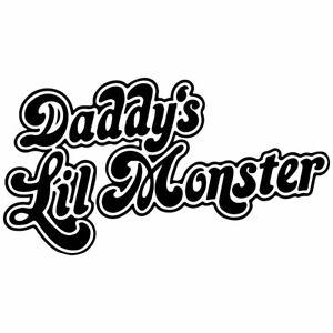 "8.2"" DADDY'S LIL MONSTER Vinyl Decal Sticker Car Laptop DC Comics Harley Quinn"