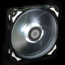 White LED 120X25mm PWM cooling Fan With De-vibration Rubber 60CFM Low noise